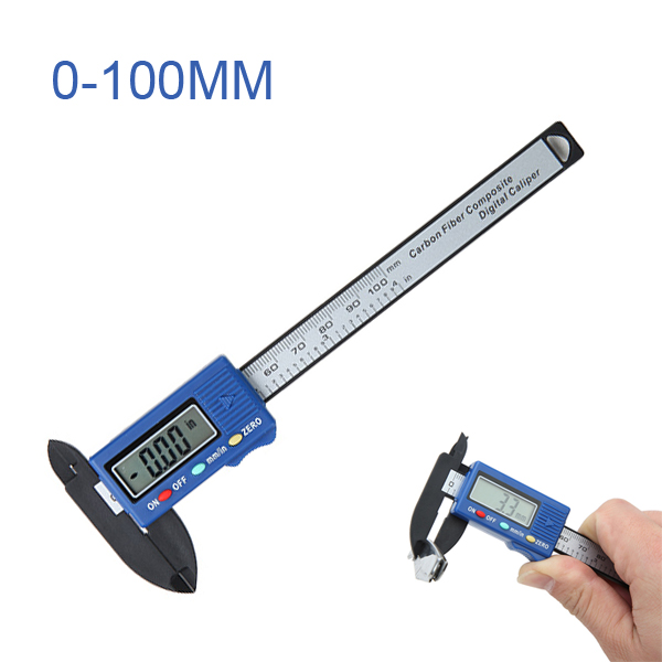 100mm High Precision Carbon Fiber Composites Digital Vernier Caliper Micrometer Guage Widescreen 0.1mm Accurately Measuring dial bore gauge 50 160mm 0 01mm center ring dial indicator micrometer gauges measuring tools
