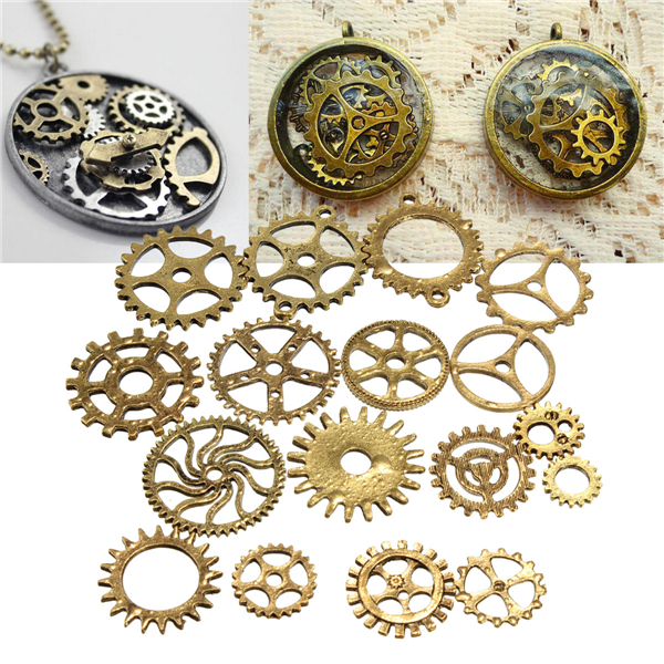 17pcs Steampunk Cyberpunk Cogs Gears Parts DIY Craft Decorations от Banggood INT