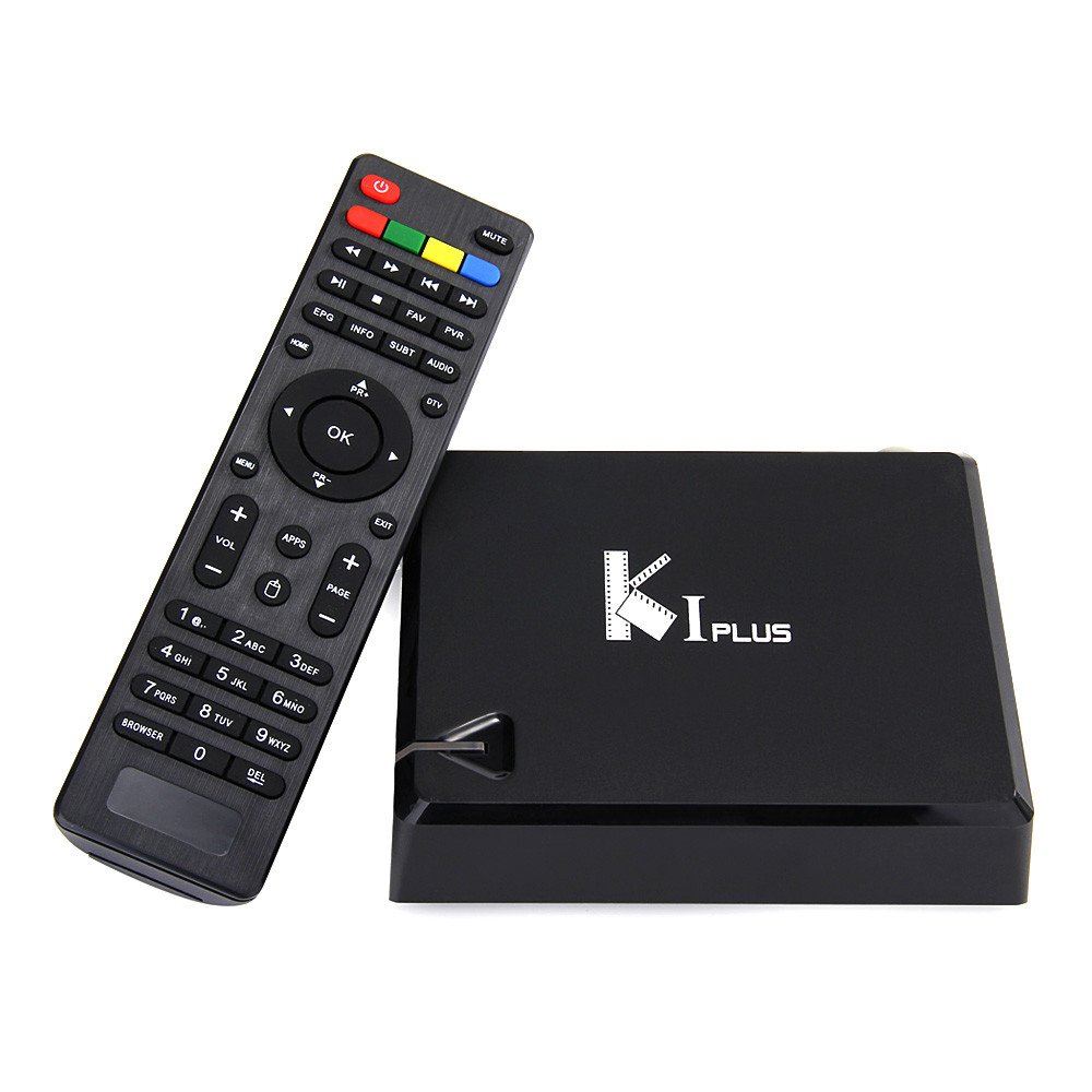 KI PLUS DVB-S2 DVB-T2 Amlogic S905 1GB/8GB Quad Core 64Bit Android 5.1.1 HDMI2.0 3D DLNA AirPlay Miracast Netflix K1 Plus TV Box Android Mini PC k1 dvb s2 android 4 4 2 amlogic s805 quad core tv box