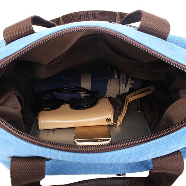Ekphero Men Women Vintage Canvas Bag Shoulder Messenger Handbag