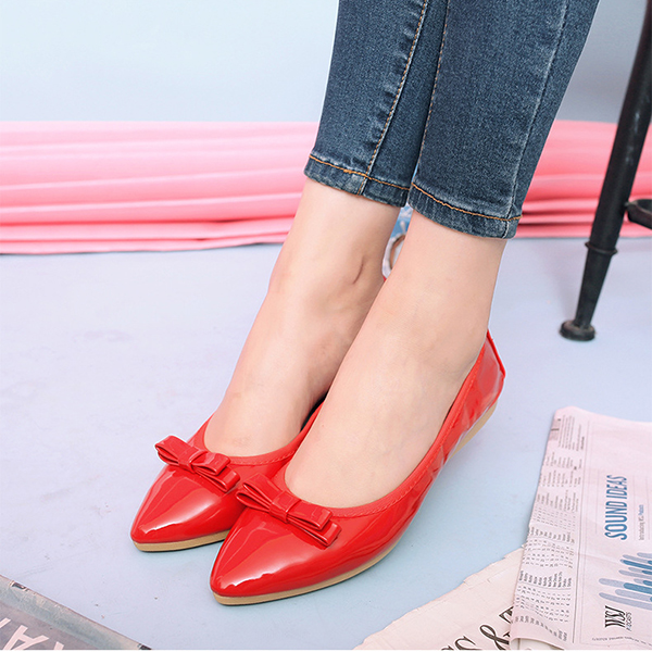 Women Flat Shoes Comfortable Pointed Toe Slip On Casual Outdoor Flat Loafers (Eachine1) Boston goods things