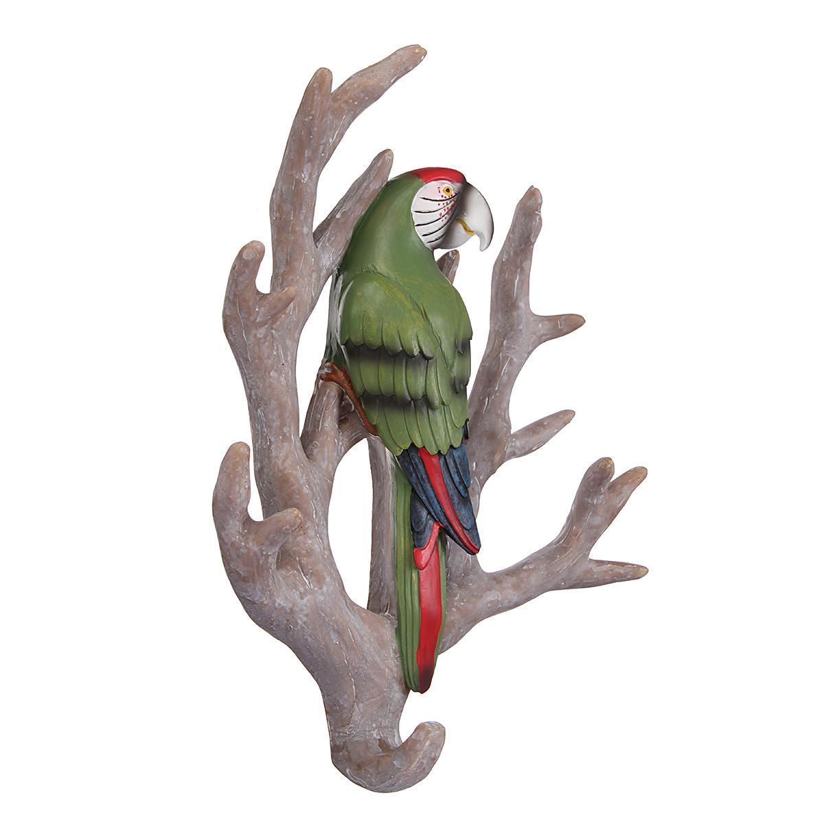 Bird Parrot Home Tree Seamless Wall Hook Hanger Home Decoration Ornament