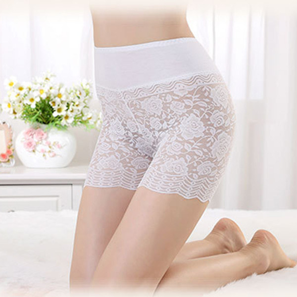 Women Girl Sexy Floral Lace Safety Pants Mid Waist Boxer Briefs Underwear Leggings