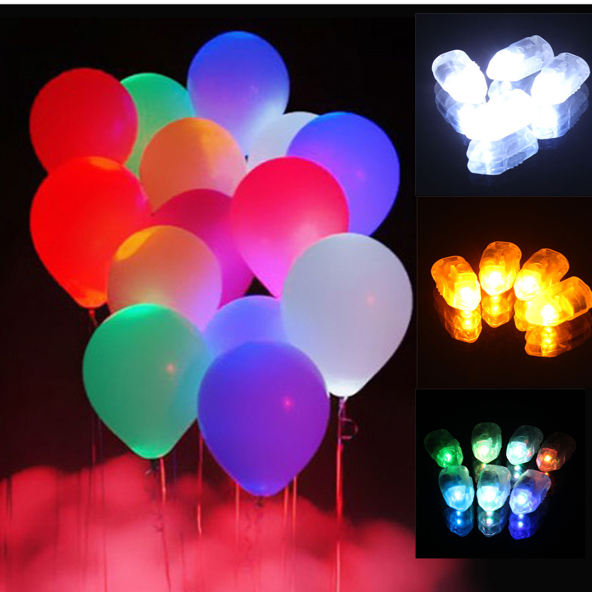 10Pcs LED Balloon Lights Lamps Paper Lanterns Lamp Home Wedding Party Decorative Lights led lamp creative lights fabric lampshade painting chandelier iron vintage chandeliers american style indoor lighting fixture