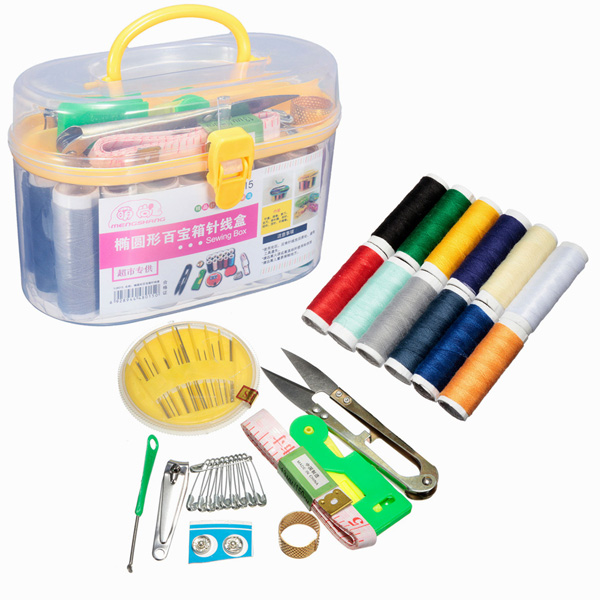 DIY Multi-function Sewing Kit Needle Thread Threader Scissor Tools Home Sewing Set