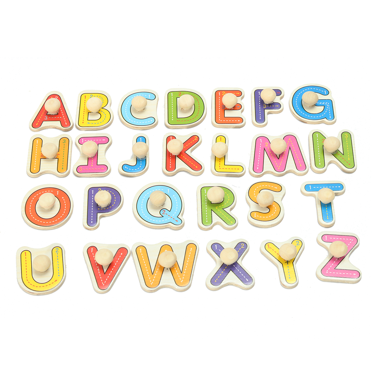 Alphabet Learning Toys : Alphabet abc wooden jigsaw puzzle toy children kids