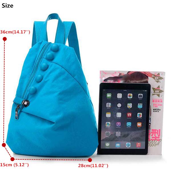 女性 ナイロン Safe Lock Casual PU Button バックパック Lightweight Travel Bag 7 色s