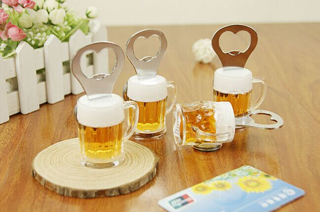 Creative Acrylic Beer Bottle Opener Beer Mug Shape Bottle Opener