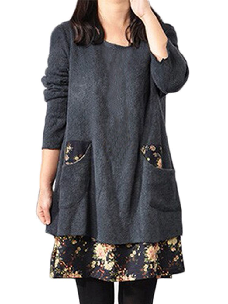 Women Dress Clothing Plus Size Patchwork Long Sleeve Casual Dress suzuki dl650a v strom б у
