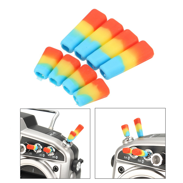 8 PCS Transmitter Anti-slipping Stick Switch Cap Sheath