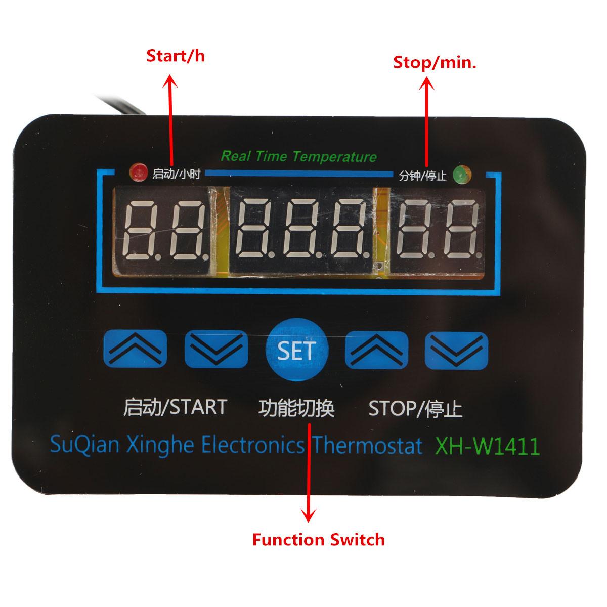 12V/220V 10A Digital LED Temperature Controller Thermostat Control  #0B79C0