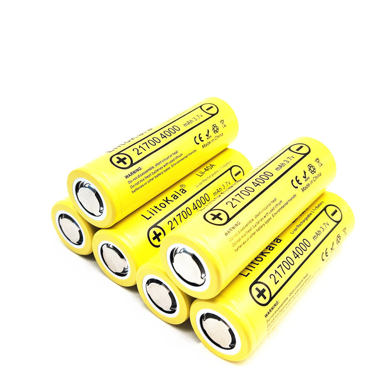 1PCS LiitoKala Lii-40A 4000mah 3.7V Unprotected Flat Top Li-Ni 21700 Battery