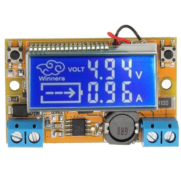 DC-DC Step Down Power Supply Adjustable Module With LCD Display Without Housing Case diy kit dc dc adjustable step down regulated power supply module belt voltmeter ammeter dual display