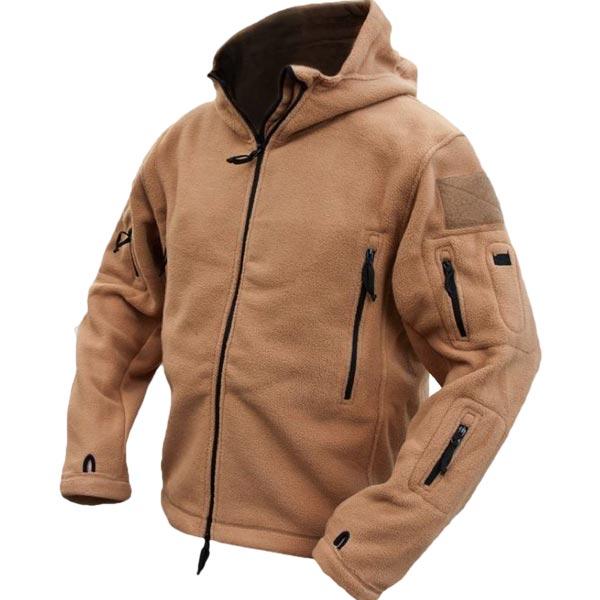 Men Tactical Military Winter Fleece Hooded Outdoor Sports Jacket