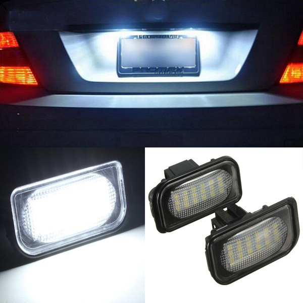 Buy A pair 18 LED Bulb License Number Plate Light for Benz C-Class