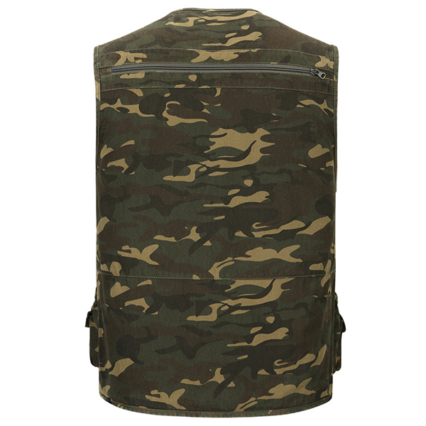 Cheap Mens Multi Functional Camouflage Pattern Quick Dry Outdoor Fishing Vest