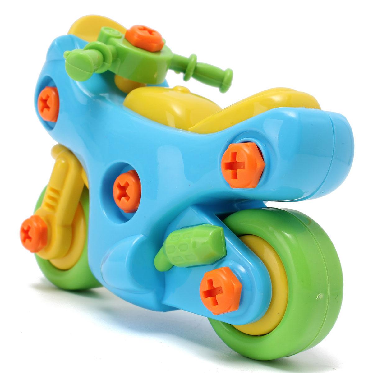 Boy Games Toy : Motocycle shape kids child baby boy disassembly assembly