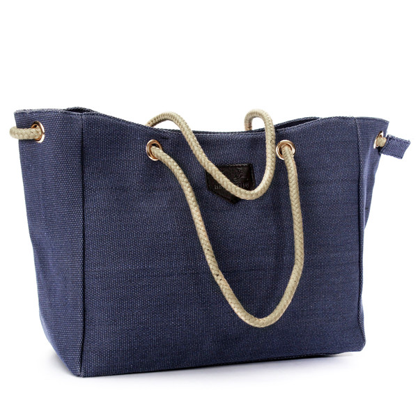 Women Canvas Rope Tote Bags Casual Shoulder Bags Capacity Shopping Bags