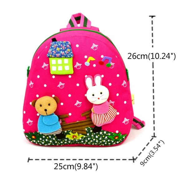 Children Kids Canvas Backpack Cute Cartoon Doll Toy School Bags Kindergarten Schoolbag