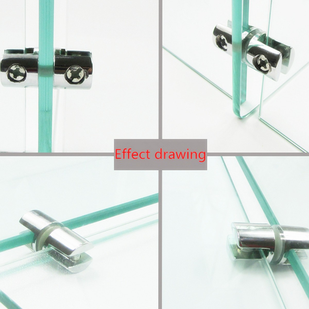4pcs Shelves Support Brackets Clamp For Glass Wooden Acrylic Shelves . Full resolution  portraiture, nominally Width 1200 Height 1200 pixels, portraiture with #B91212.