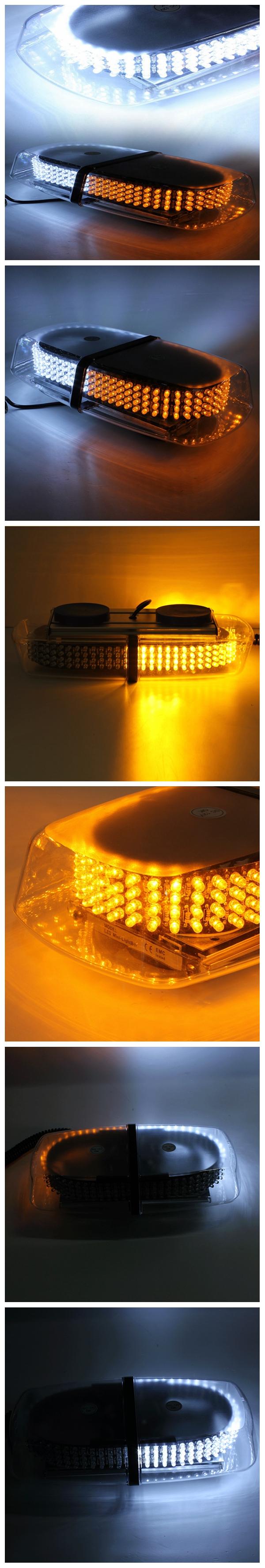 15W 240LED Magnetic Strobe Emergency Warning Light Bar