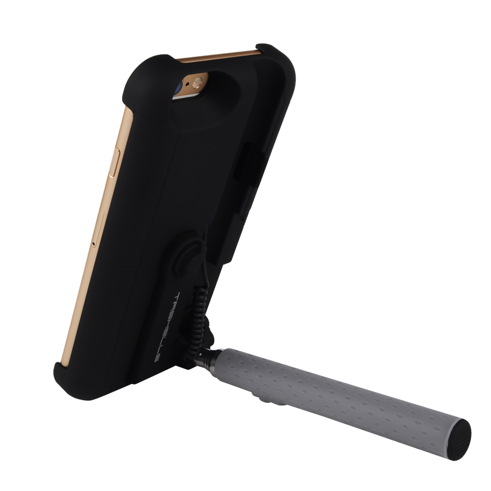 2 In 1 Extendable Monopod Wired Remote Selfie Stick Case For iPhone 6 6S