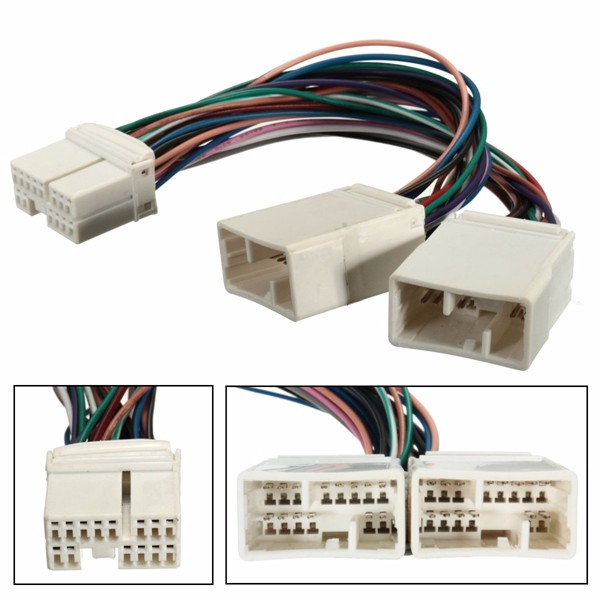 Y Cable Splitter For Aux CD Changer Navigation XM Radio Ipod Adapter Fits Honda
