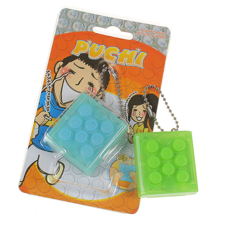 Puchi Stress Reliever Squeeze Bubble Packing Crazy Gadget Endless Pop Pop Wrap Key Chain - Photo: 3