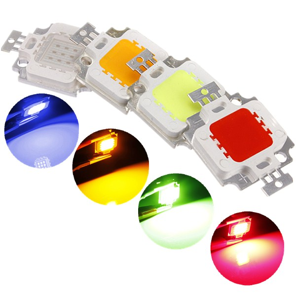 Multicolor 10W High Power LED Chip Ceiling Down Flood Light Lamp Accessories DC9-12V mayerplus 900w double chips led grow light full spectrum 410 730nm for indoor plants and flower phrase very high yield