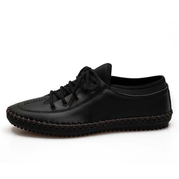 Men 靴 Round Toe Lace Up Cとしてual Outdoまたは Comためにtable Busにess Flats