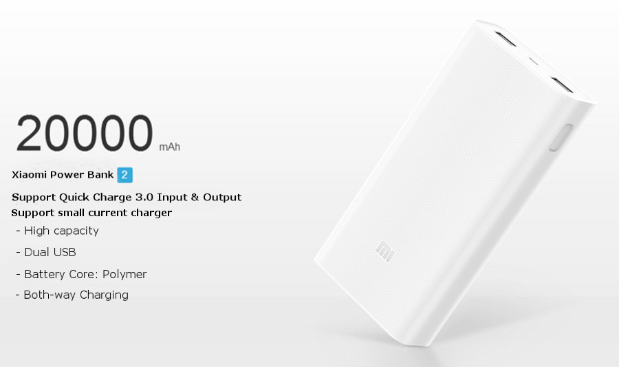original xiaomi 20000mah polymer power bank 2 dual usb. Black Bedroom Furniture Sets. Home Design Ideas
