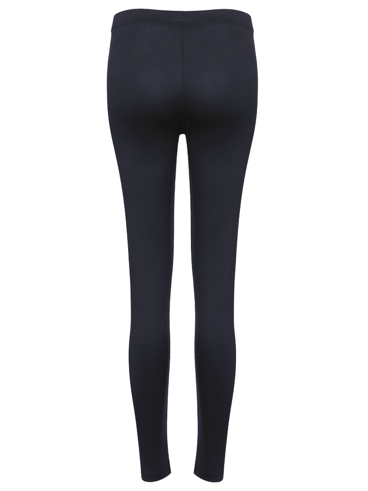 Black Women Sports Casual Elastic Leggings