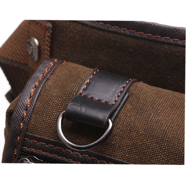 Men's Vintage Style Multifunction Outdoor Sports Anti-friction Canvas Waist Leg Bag