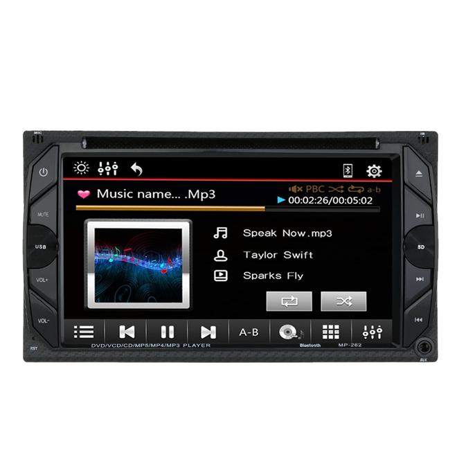 6 2 inch 2 din car stereo dvd player bluetooth gps navigation fm sd usb aux universal sale