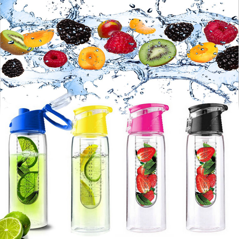 800ML Fruit Juice Infusing Infuser Water Bottle Sport Health Lemon Juice Bottle Flip Lid 400ml portable bpa free wide mouth cool water bottle