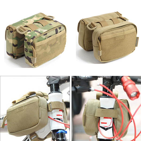 Bicycle Front Frame Tube Bag Saddle Pack Pouch Shoulder Bag Camo Pannier For Cycling sa212 saddle bag motorcycle side bag helmet bag free shippingkorea japan e ems