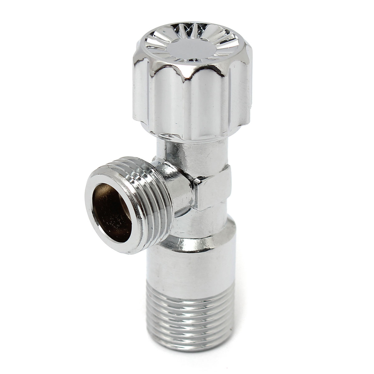 U Type Chrome Electric Water Heater Mixing Valve Single: G1/2 Copper Triangle Valve Water Mixing Angle Valve Water