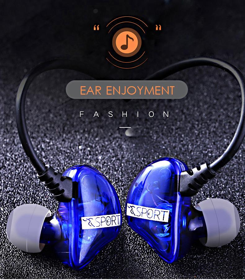 Subwoofer Bass Sports In-ear Earphone Wire Control Earphone 13