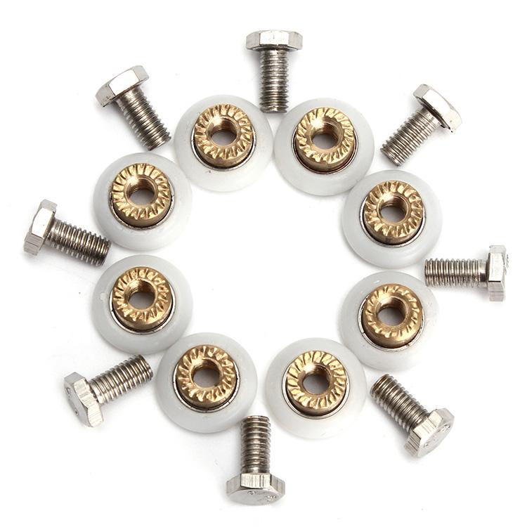 8Pcs Shower Door Roller Glass Bathroom Door Runners Wheels 19mm Replacement Wheel (Eachine1) Vallejo announcements of purchase