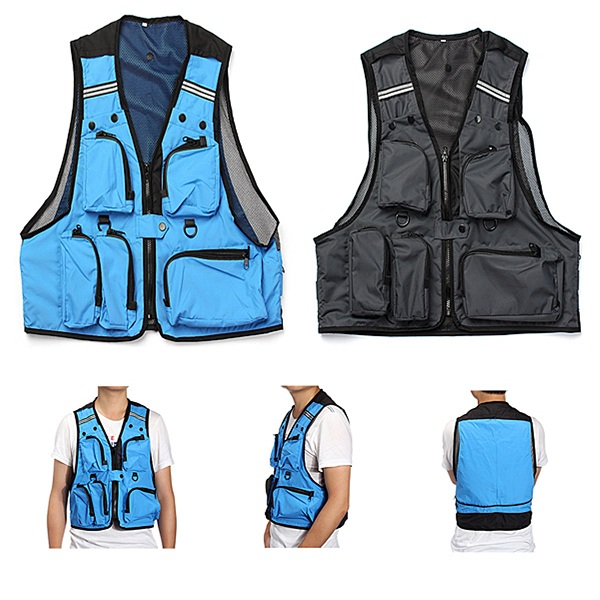 Multi Pockets Fishing Hunting Mesh Vest Mens Outdoor Leisure Jacket cewaal new design a4 photo laminator document hot