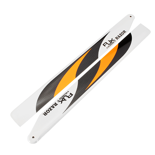 RJX RAZOR Orange 360mm Premium CF Blades FBL Version For 470 RC Helicopter - Photo: 2