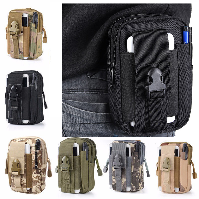 Tactical Military Molle Waist Bag Pack Portable Mini Bag Nylon Phone Wallet For Travel Sports