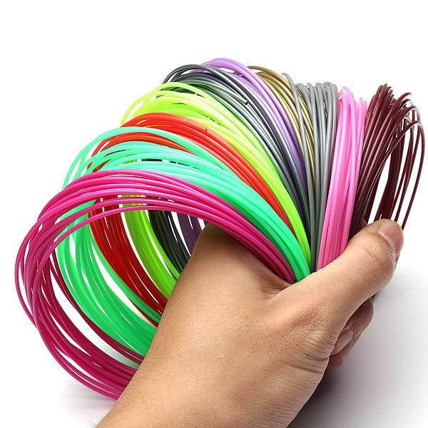 20pcs 100m Total 1.75mm PLA Printing Filament Modeling For 3D Printer Pen Drawing 12