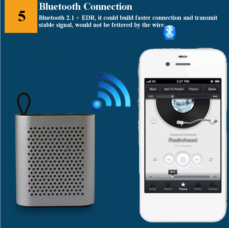 THECOO BTM107 Mini Portable Handsfree Call HIFI Bluetooth Speaker for Samsung Xiaomi