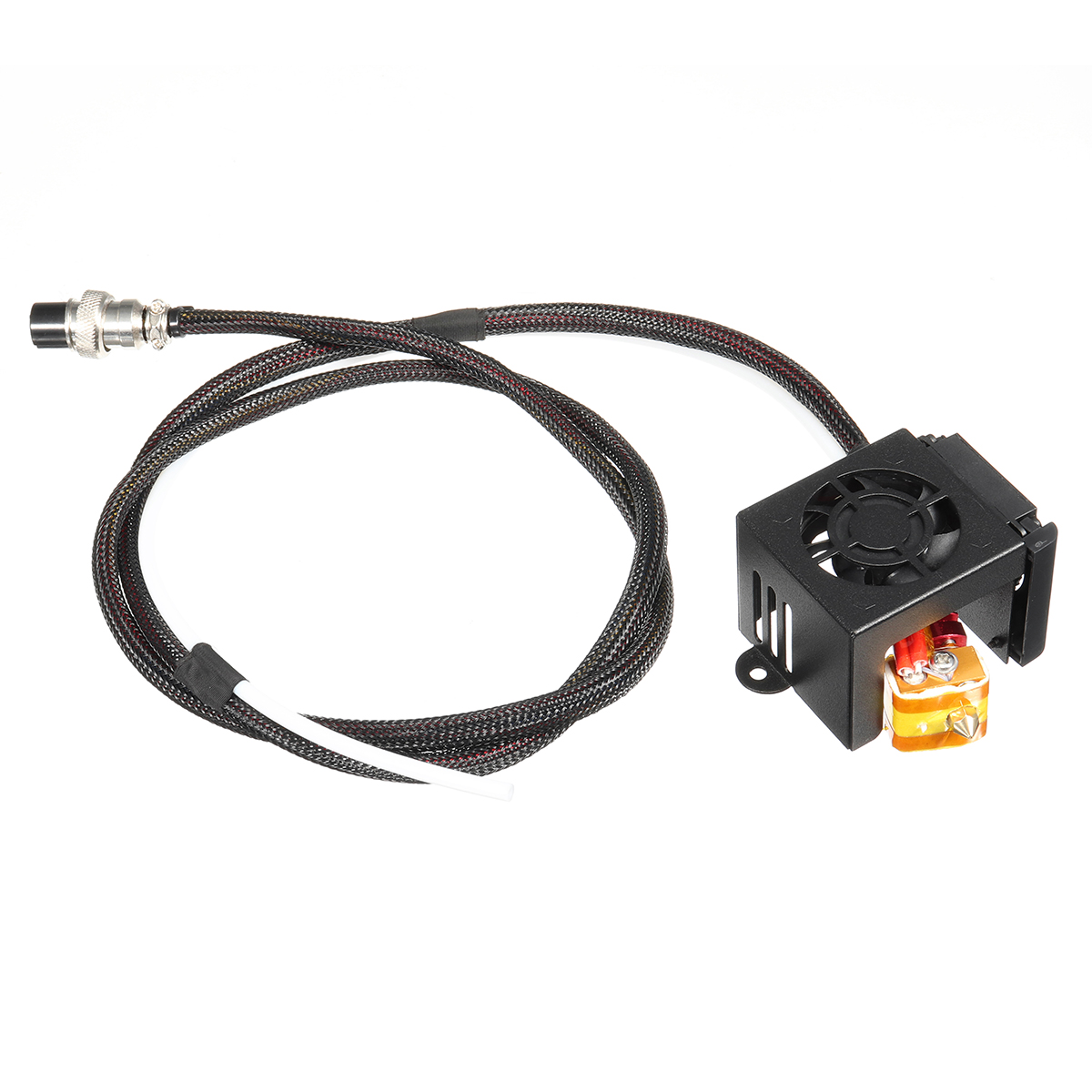 3D Printer Parts 0.4mm Nozzle Hot End Extruder Kits With Cooling Fan For Creality CR-10 15