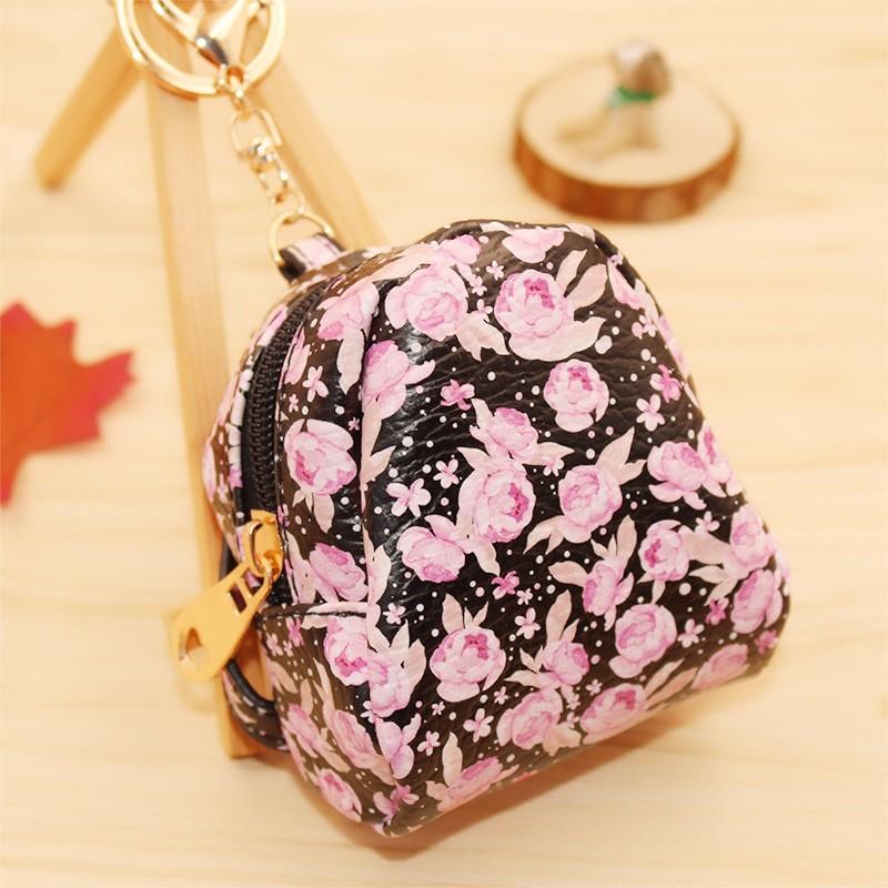 Floral Mini Change Keys Car Hangbag Key Chain Ring Gift Fine Jewelry