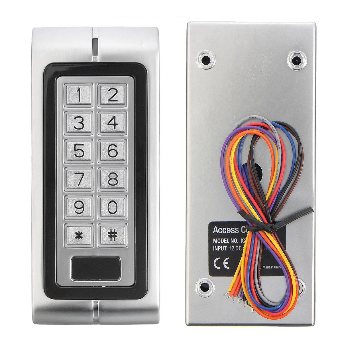 Door Access Control : K waterproof password keypad card reader entry door lock