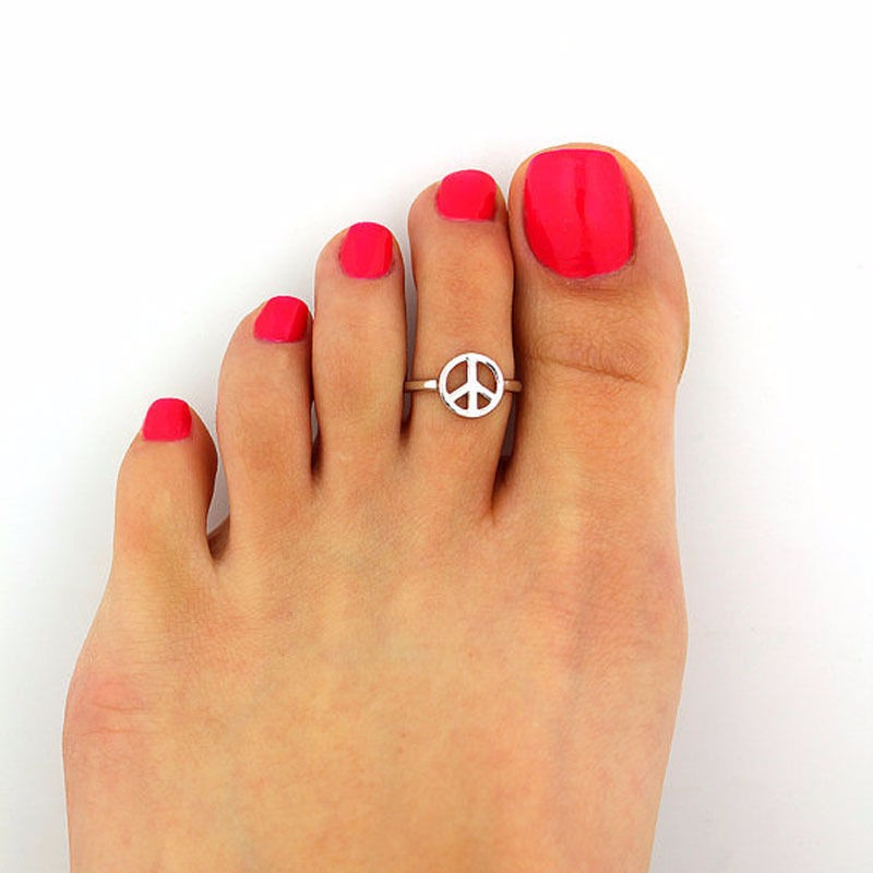 Silver Toe Foot Finger Punk Ring Women Body Jewelry at ...
