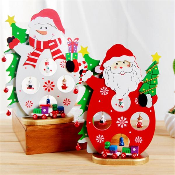 Other Home Decor 3d Wooden Christmas Santa Claus Snowman