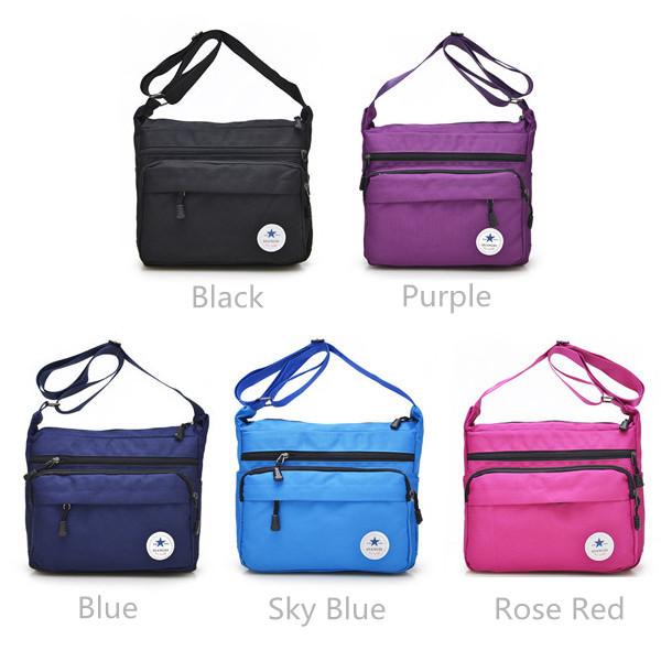 Women Nylon Light Crossbody Bags Ladies Zipper Messenger Bags Shoulder Bags Outdoor Travel Bags